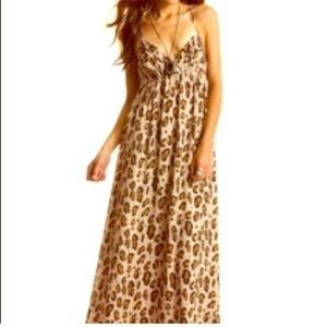 A/X Armani Exchange Leopard Print Maxi Dress Alter